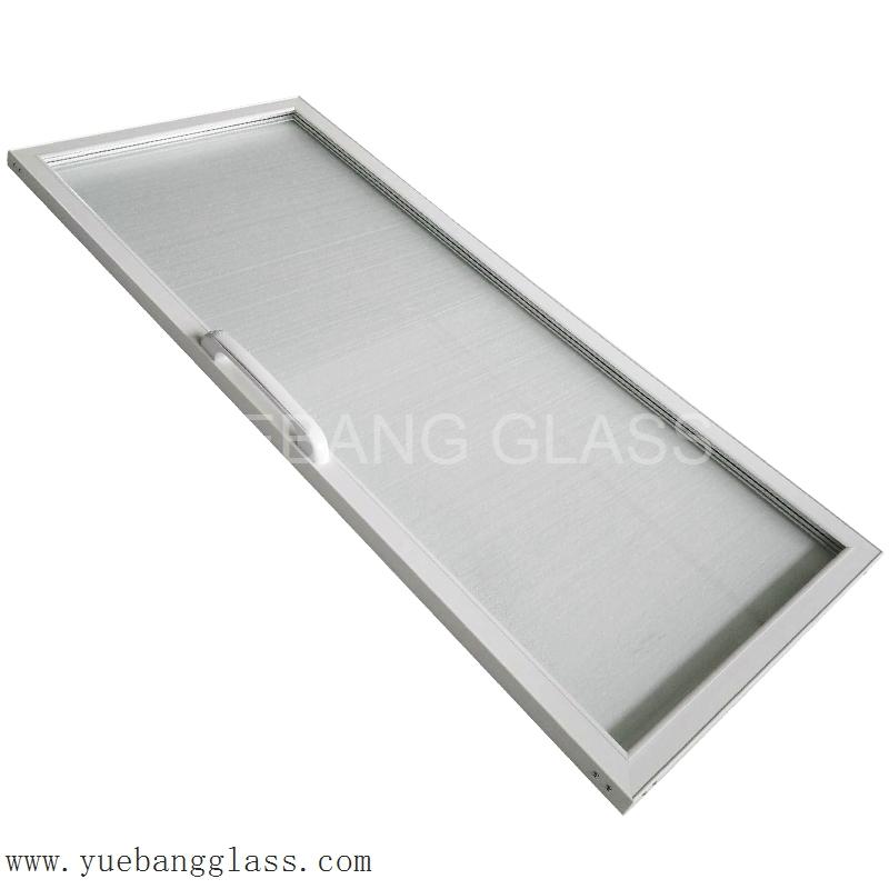 Plastic Frame Glass Door For Beverage Freezer